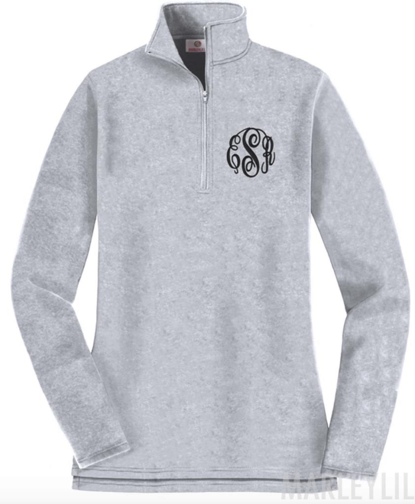 Monogrammed Pullover Sweatshirt