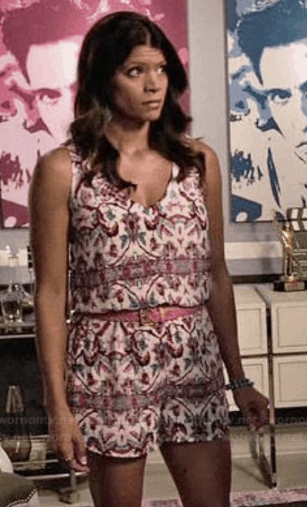 Xiomara from Jane the Virgin style: Xo wearing a floral print romper