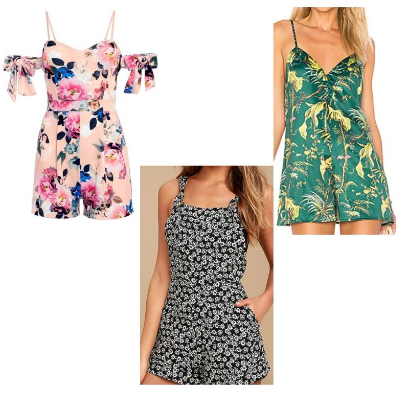 Floral print rompers inspired by Xiomara from Jane the Virgin