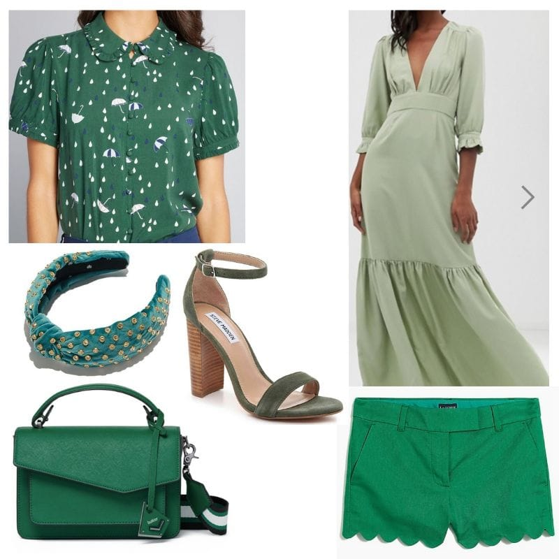All green clothing and accessories