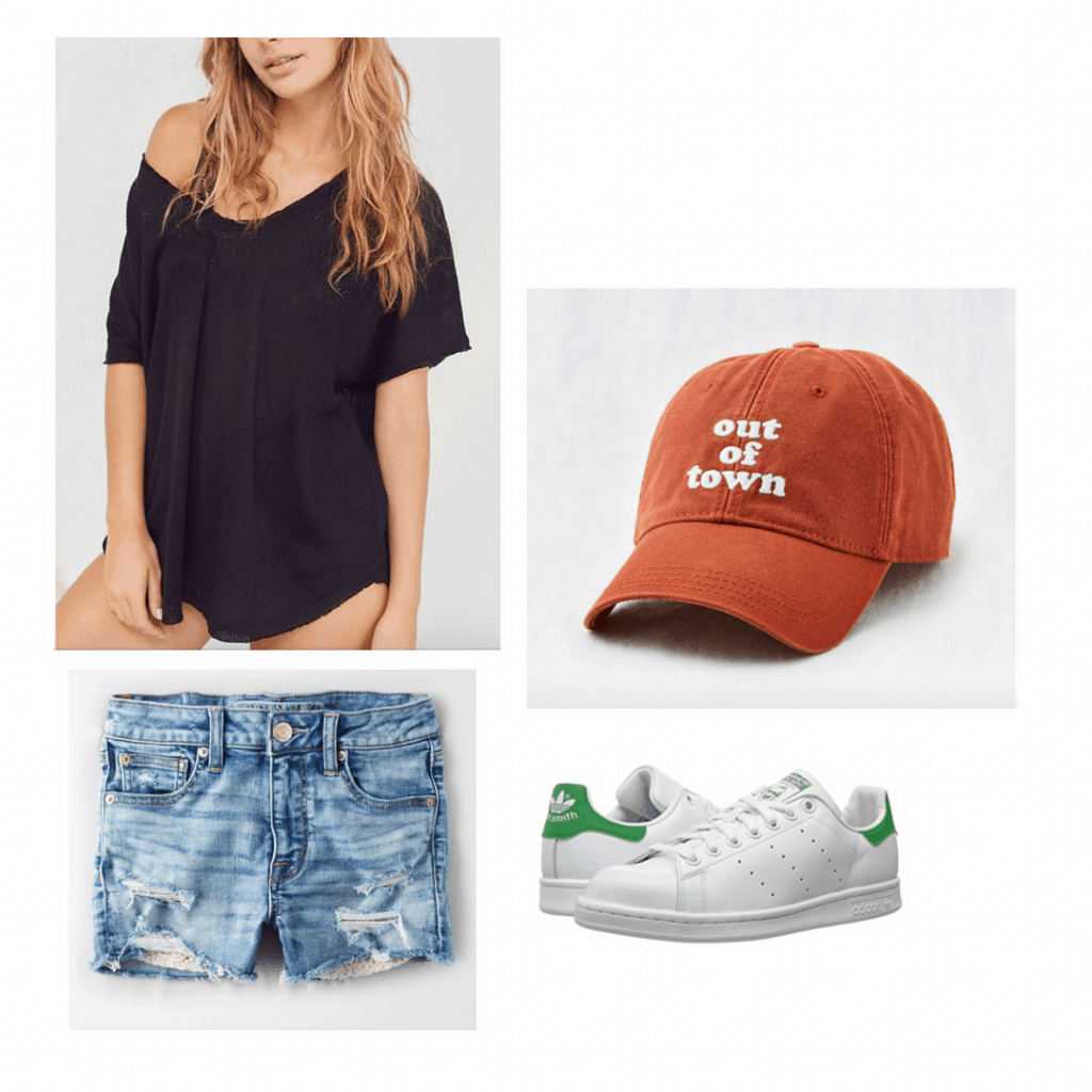 Comfy and easy bachelorette party outfit idea