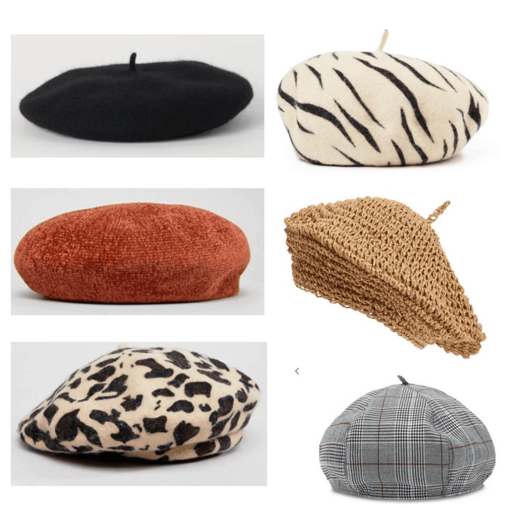 Beret: Felt Beret, Zebra Beret, Chenille Beret, Straw Beret, Leopard Beret, Plaid Beret