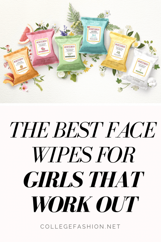 Best face wipes for the gym - these are the face wipes you need if you're a girl that works out a lot