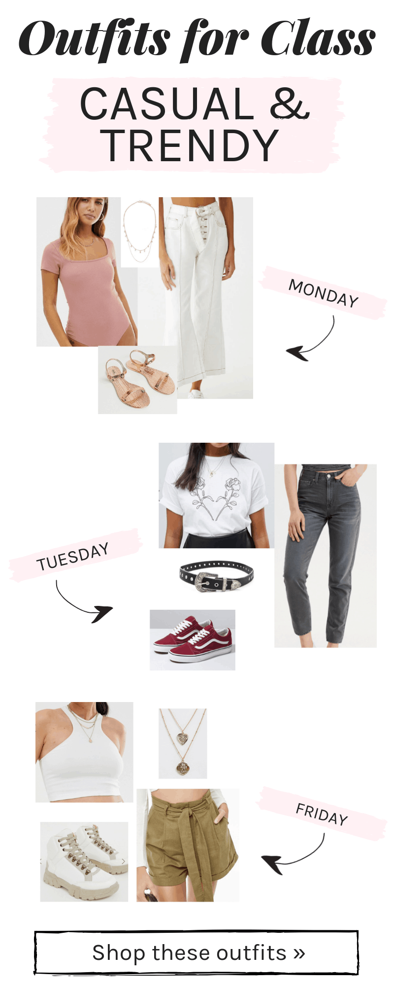 4 Spring Outfits for Class (for Every Day of the Week) - College