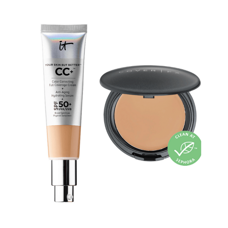 Best cream foundations - It Cosmetics your skin but better and Cover FX cream foundation