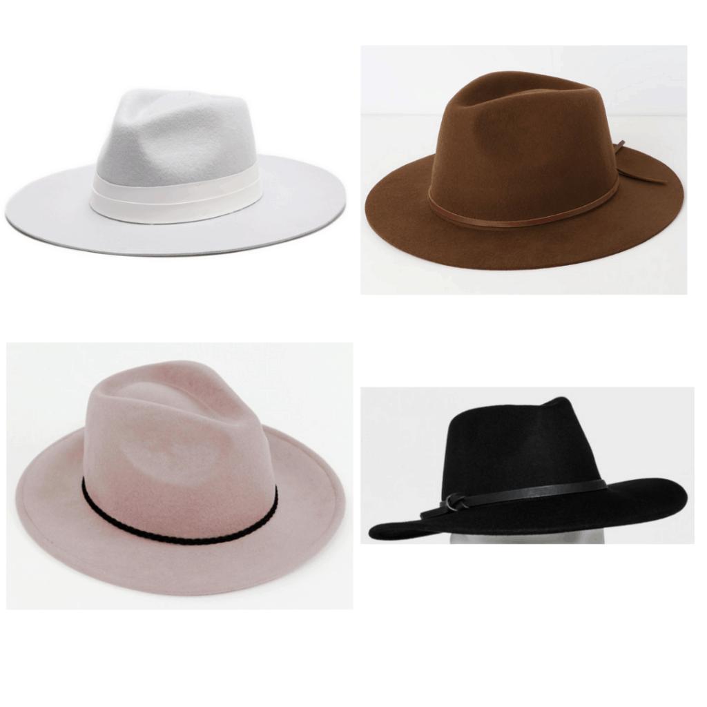 Felt Hat: Grey Panama Hat, Brown Fedora, Braided Trim Fedora, Black Panama Hat
