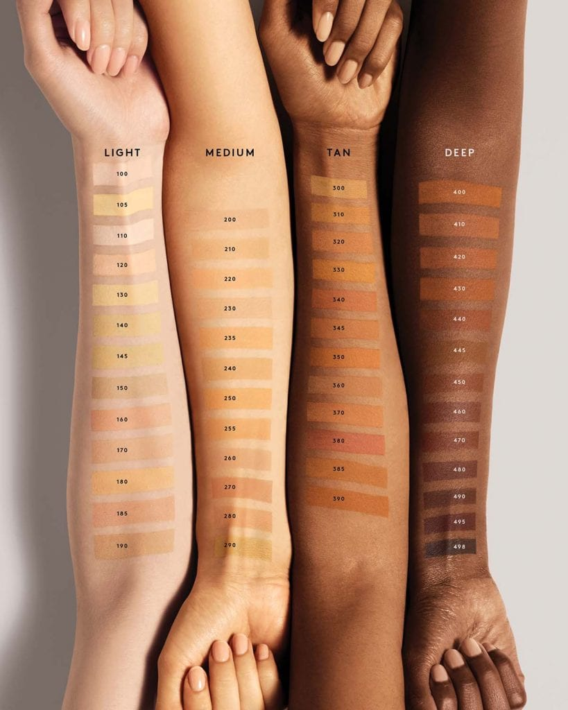 Fenty Beauty foundation shade range