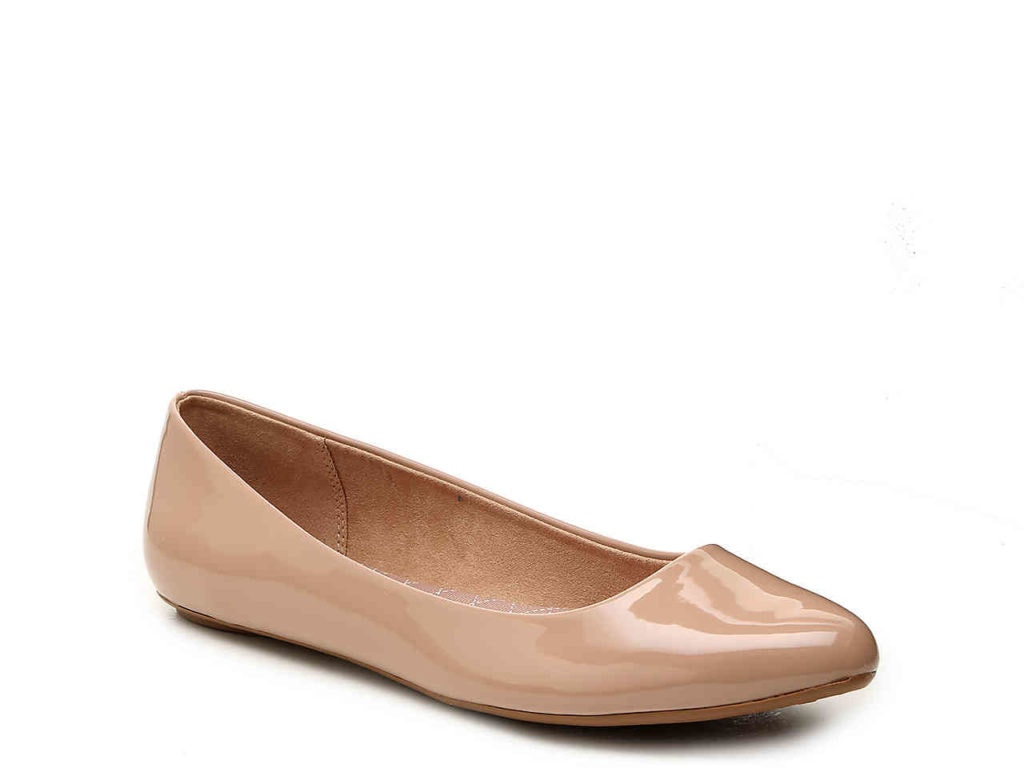 nude ballet flat