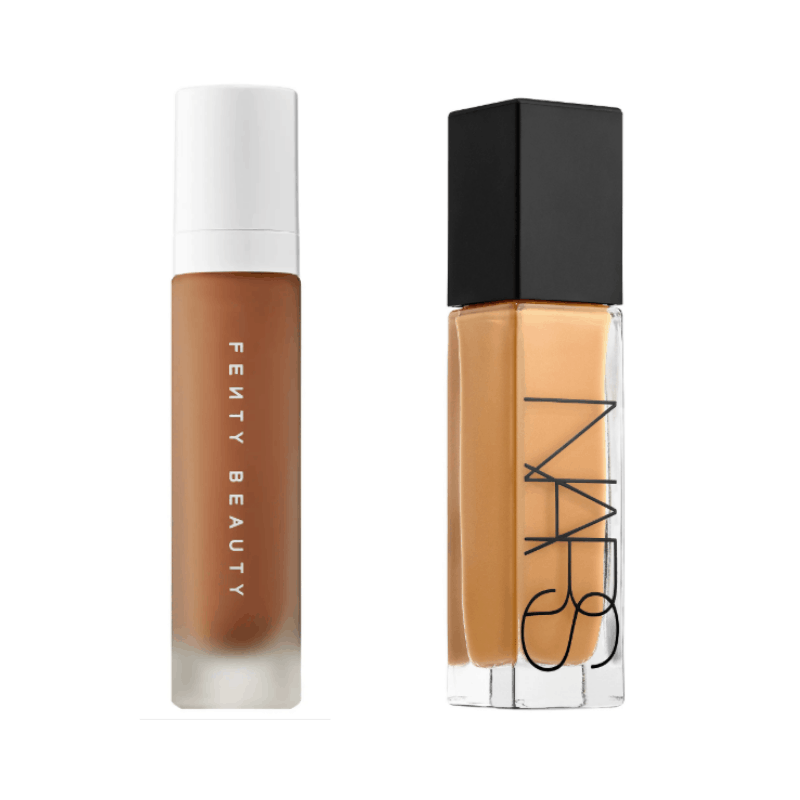 Best liquid foundations - Fenty Beauty Pro Filtr and NARS Natural Radiant