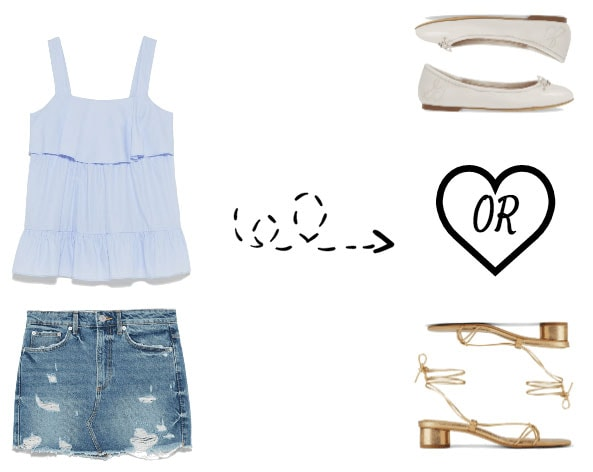 Mini skirt outfit options