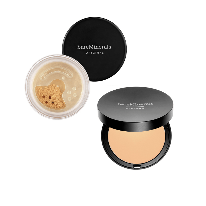 Best powder foundations: Bareminerals regular and travel