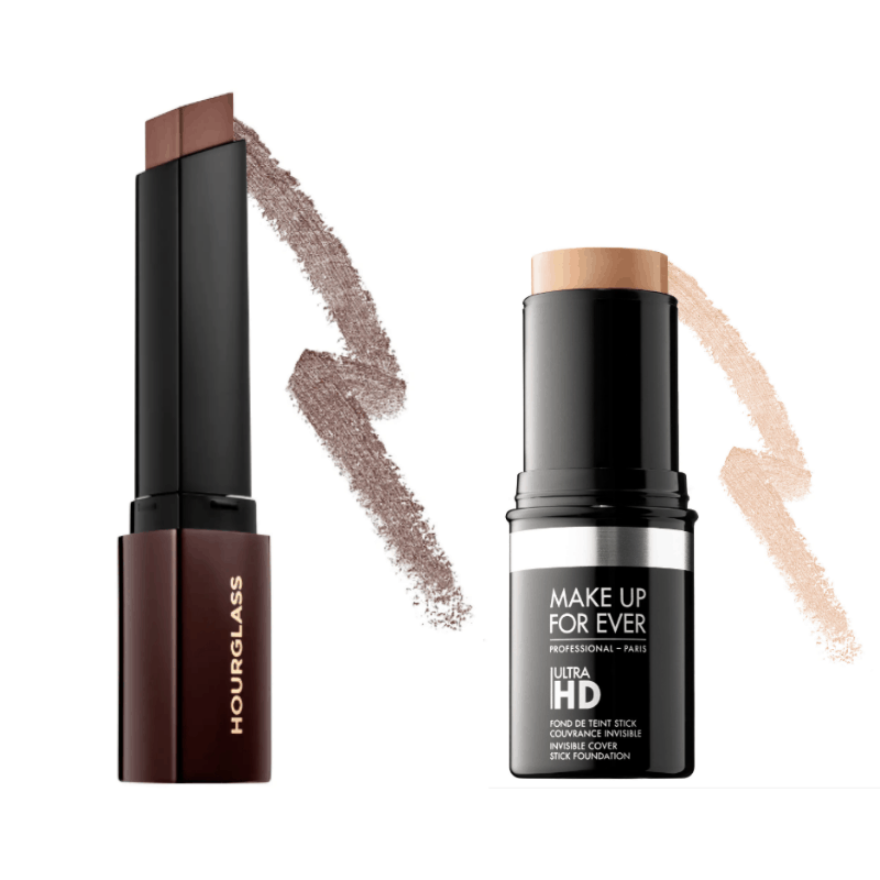 Best stick foundations - Hourglass and Make Up For Ever HD