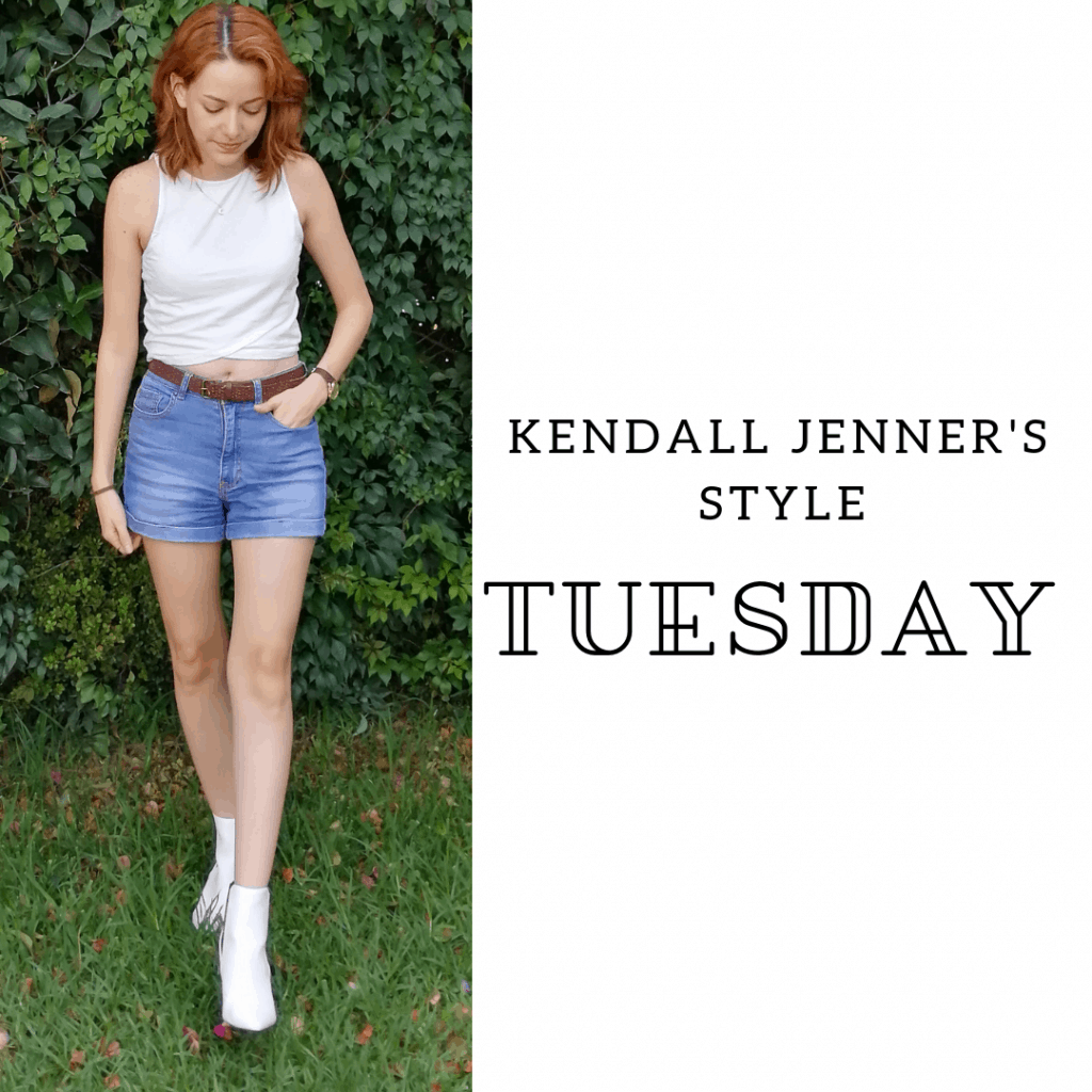 Kendall Jenner's Style Tuesday: crop top, shorts, booties, belt