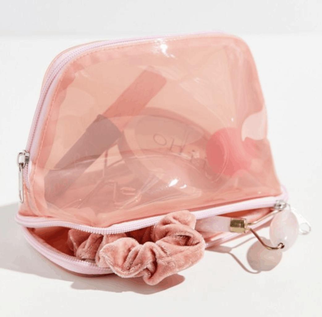 pink pvc bag