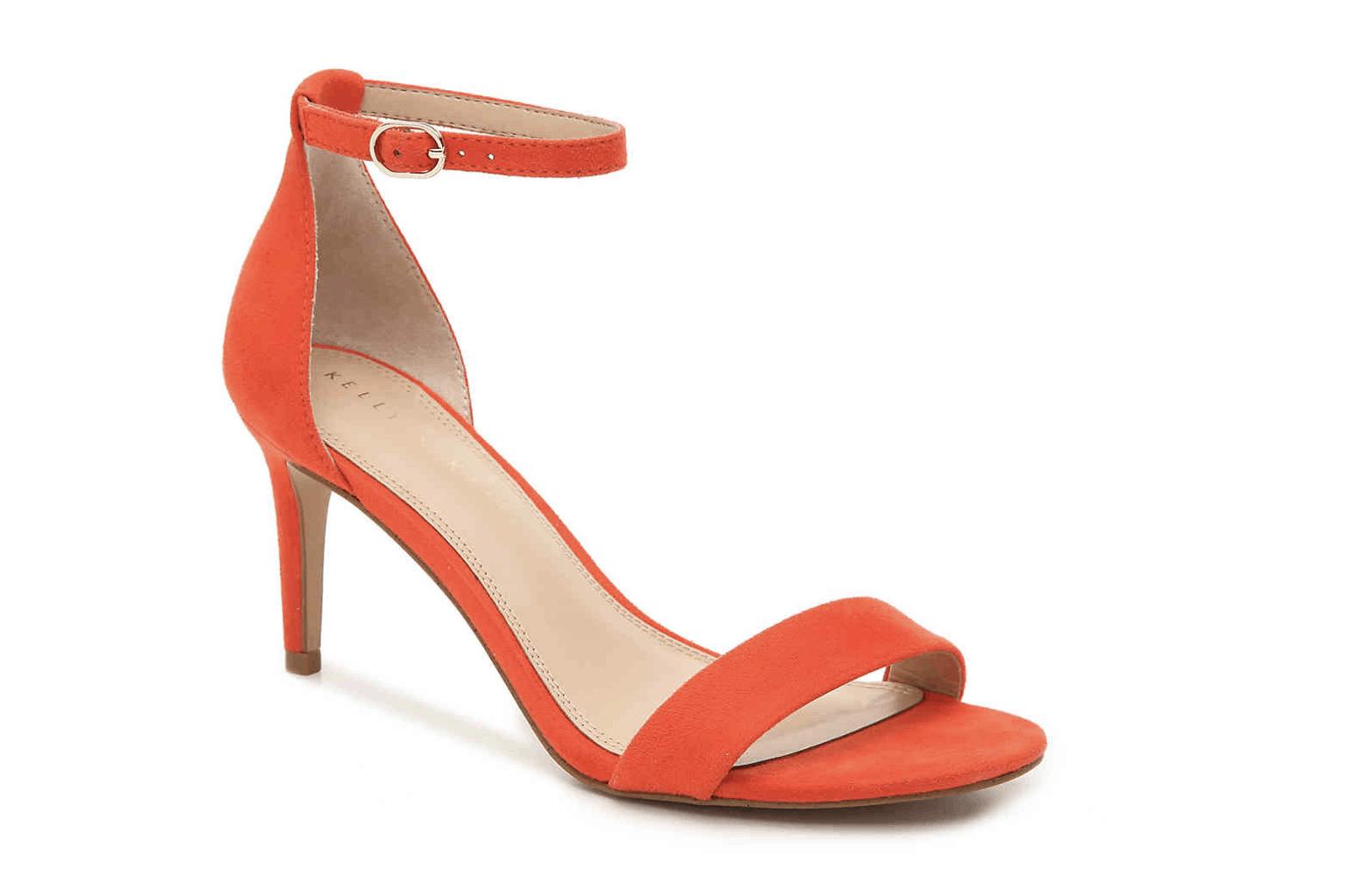 orange sandal heel