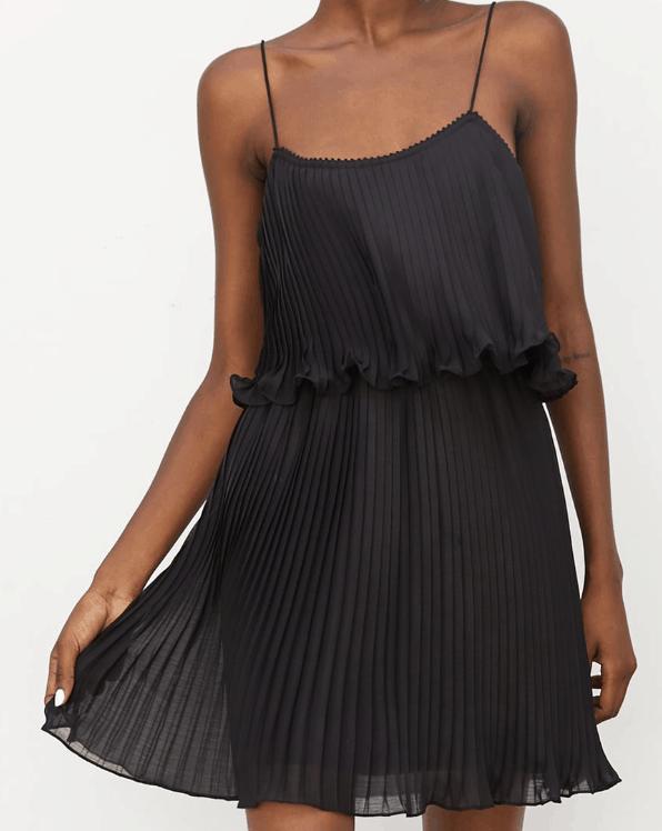 Little black pleated dress from Zara