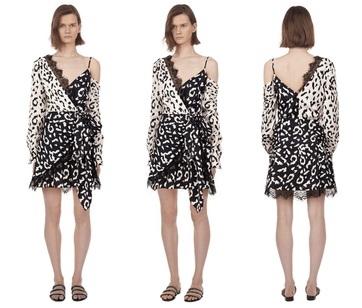 mode in dress with inverted leopard prints