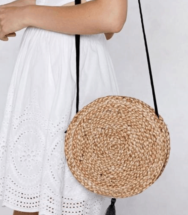 straw bag college fashion