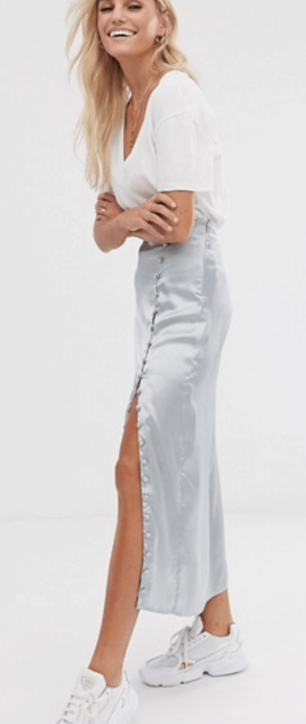 satin maxi skirt college fashion