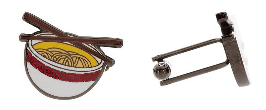 Ramen noodle bowl cufflinks