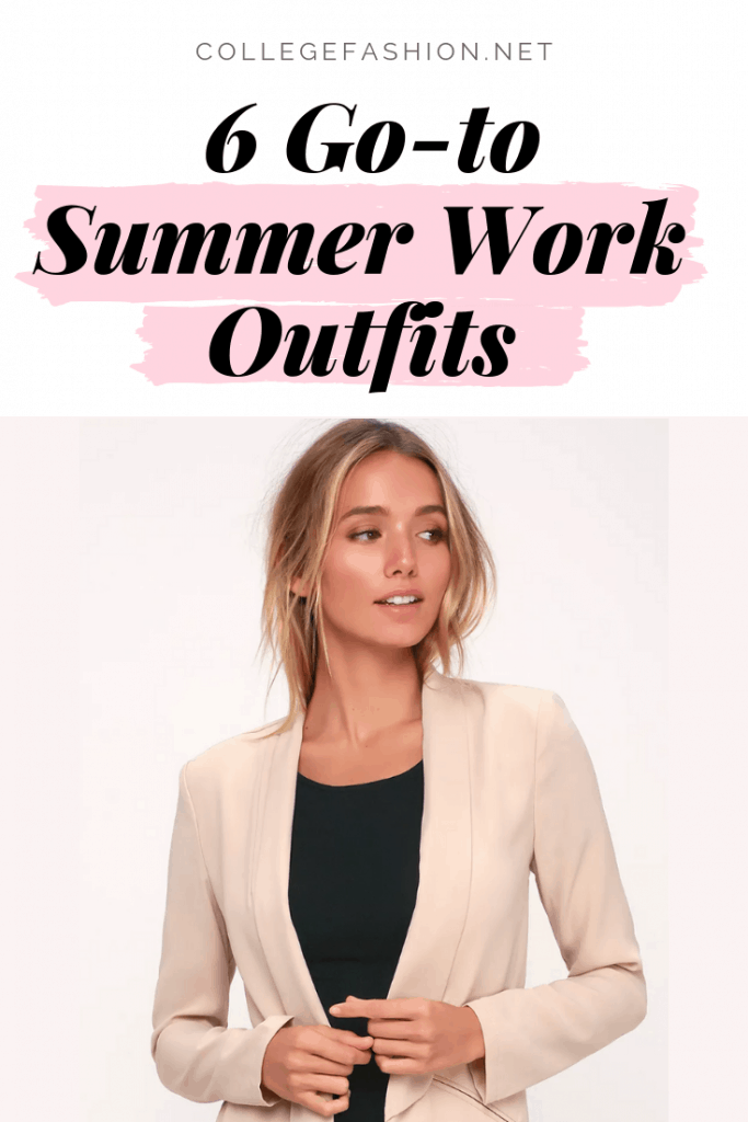 6 go-to summer work outfits ideas for when it's hot outside but cold inside