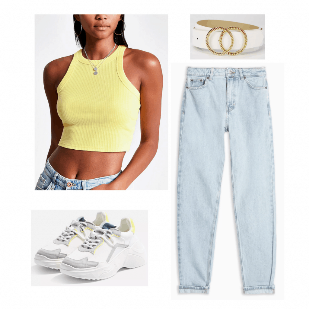 K pop fashion: Outfit inspired by BTS Taehyung's yellow shirt and light-wash jeans combo