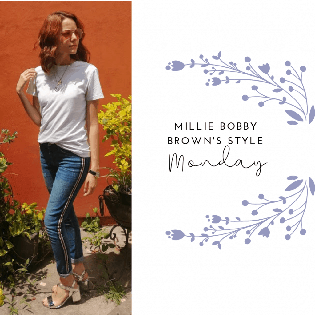 MILLIE Bobby Brown's STYLE MONDAY: T-SHIRT, JEANS, HEELS, SUNGLASSES