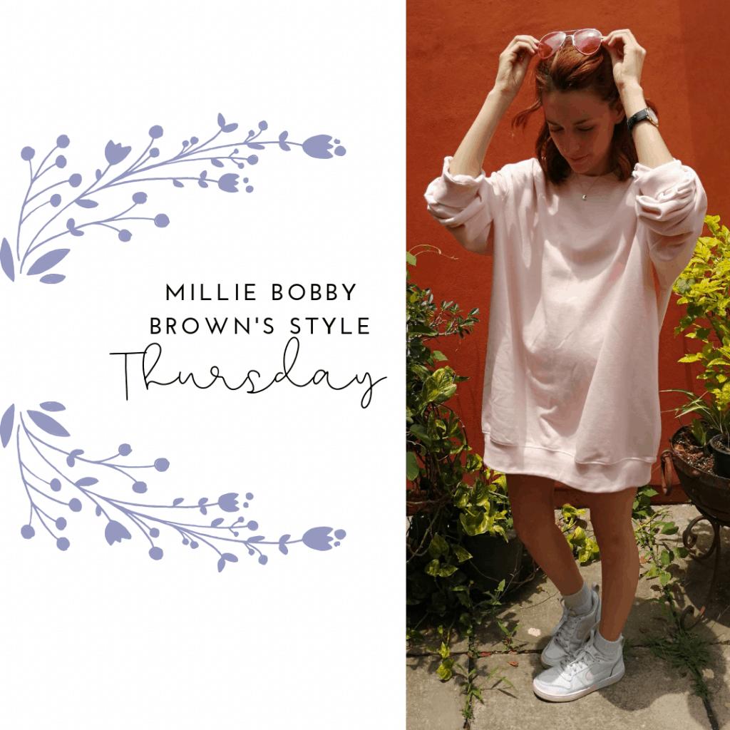 MILLIE'S STYLE THURSDAY: SWEATSHIRT DRESS, SNEAKERS