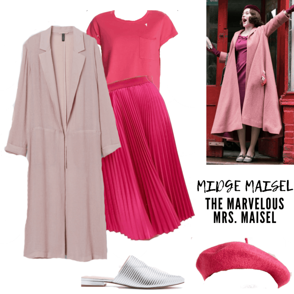 MIDGE'S OUTFIT: SKIRT, SHIRT, COAT , MULES AND BERET