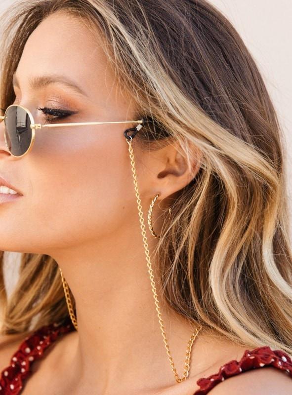 Sunglasses chain in gold
