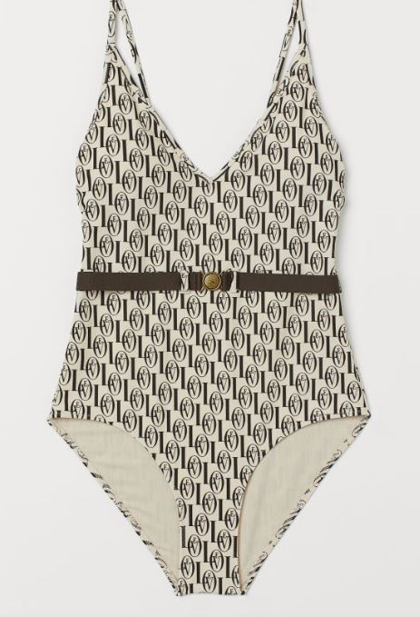 Summer 2019 swimwear trends - Printed one piece with belt