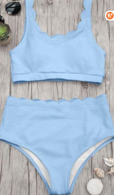Summer 2019 bathing suit trends - bralette scalloped bikini