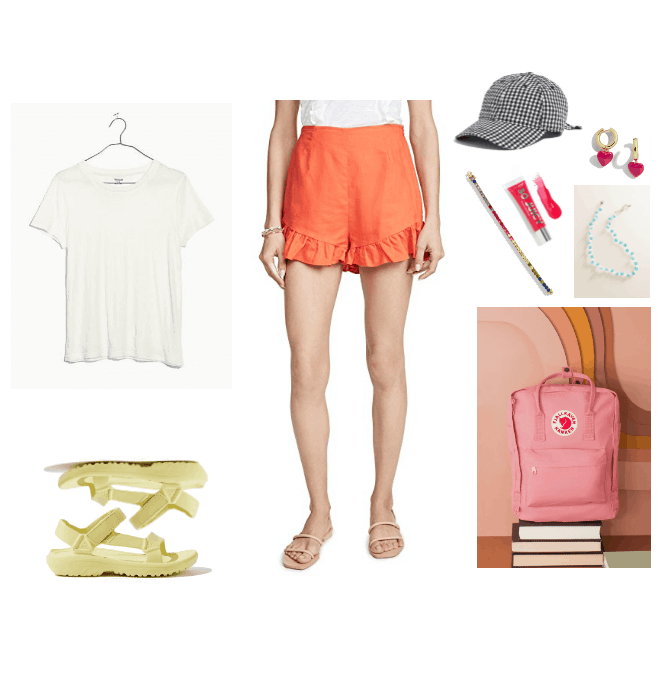 How to Wear Sporty Sandals Like a Fashionista Outfit #1