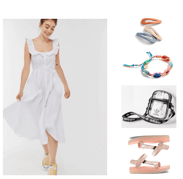 How to Wear Sporty Sandals Like a Fashionista Outfit #3