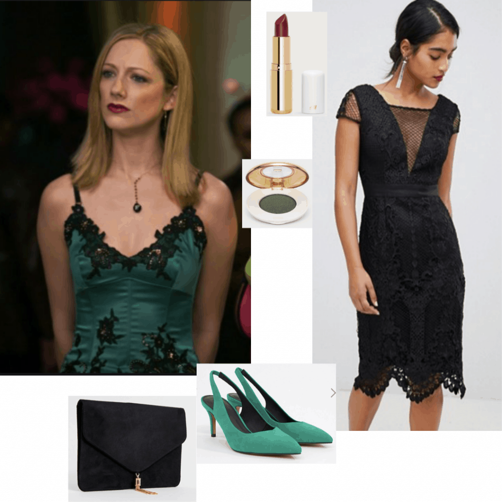 Lucy style from 13 Going on 30: Cami dress in green outfit