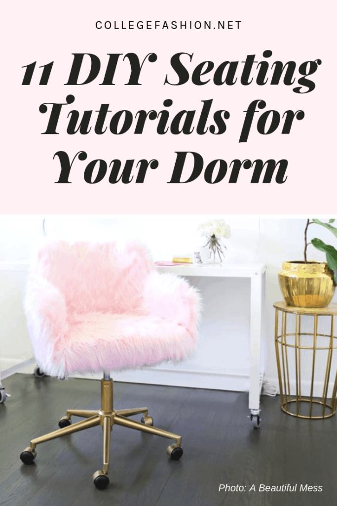 The best DIY seating tutorials for your college dorm