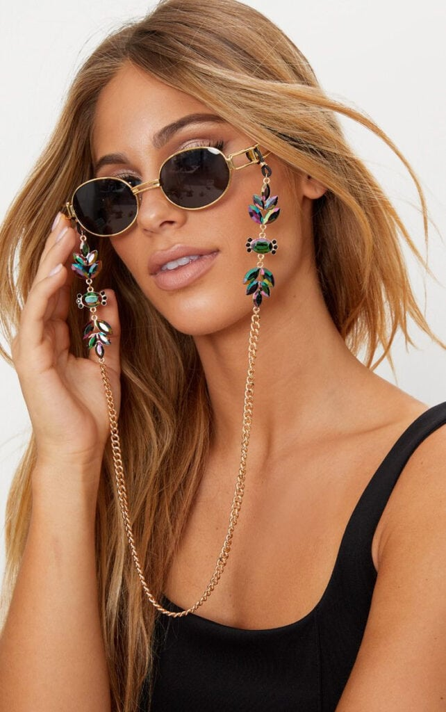 Iridescent beaded chain from Princess Polly