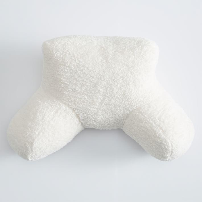 Cushion backrest lounge pillow in cream sherpa