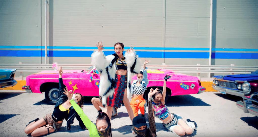 Somi birthday music video style
