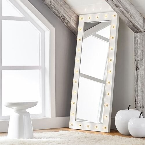 Marquee light full length selfie mirror