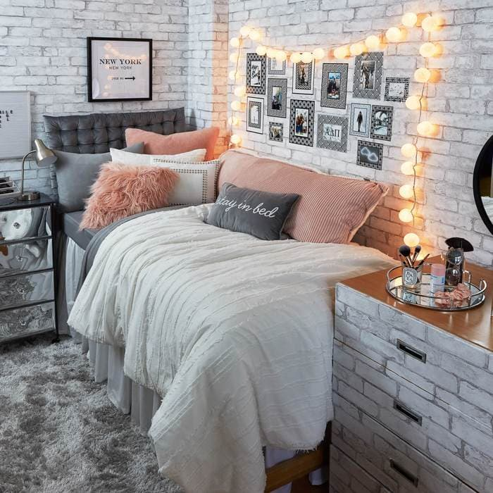 Where to buy dorm bedding: No Bad Days room from Dormify