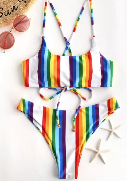 Best swimsuits of 2019 - rainbow bikini