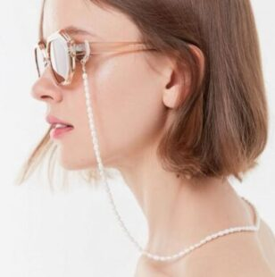 Lara Pearl Sunglasses Chain from Urban Outfitters