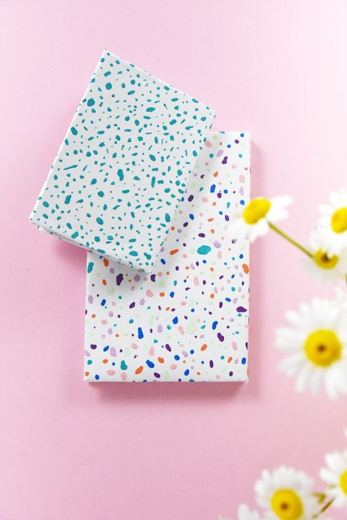 Cute notebook ideas - terrazzo painted notebook