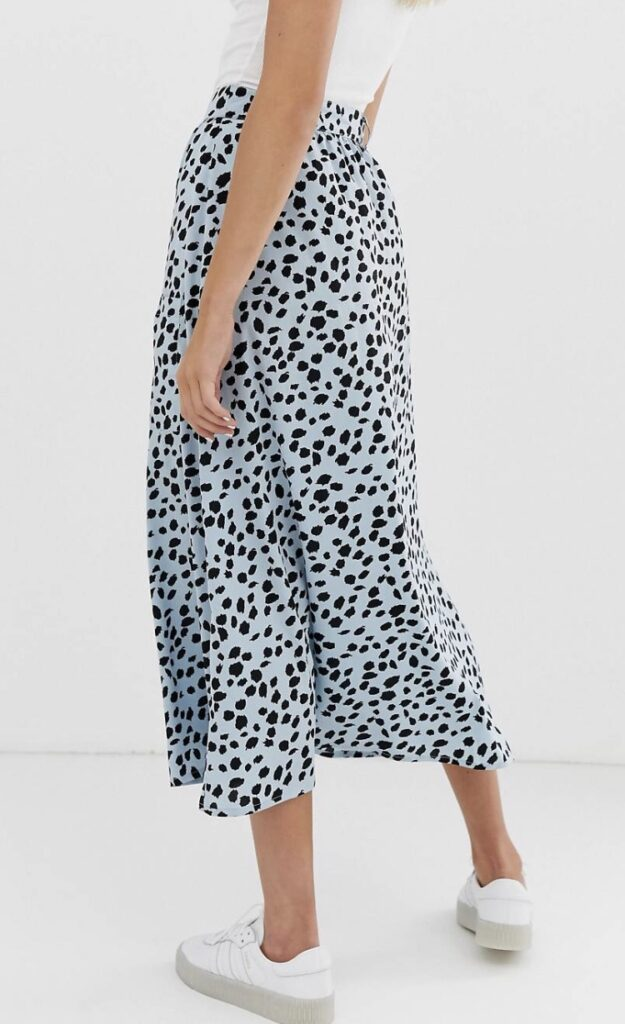 A printed midi skirt from ASOS