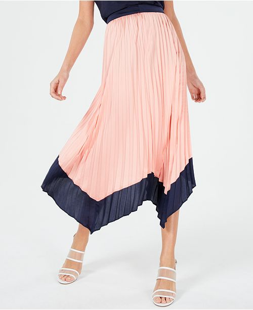 A pleated midi skirt from Macy's