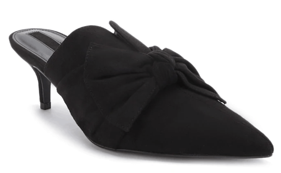 Summer heels cheap - Pointed toe bow mules for .90 from Forever 21