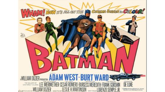 Batman Adam West movie poster