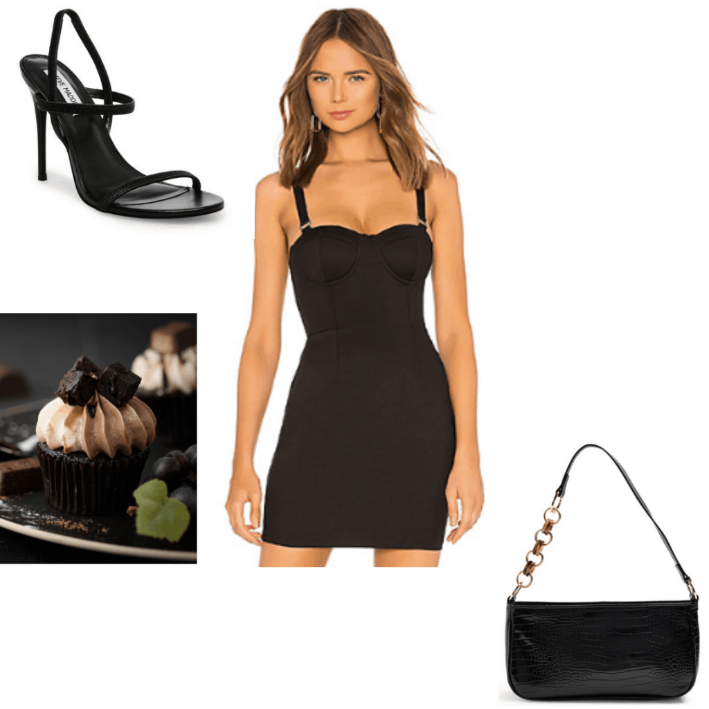 Birthday look -- little black dress outfit for birthday with black heels and bag