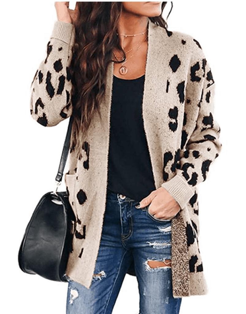 Leopard print cardigan from Amazon